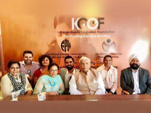 Karan Gupta with Senior officials of Fellowship of the Physically Handicapped, Haji Ali