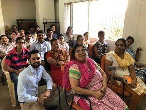 Karan Gupta addressing at the KGEF mobile repairing class