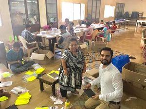 Karan Gupta spending time at Fellowship of the Physically Handicapped, Haji Ali